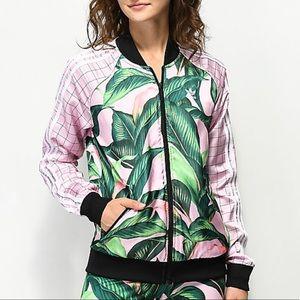 Adidas Palm Leaf Jungle Windbreaker Track Jacket